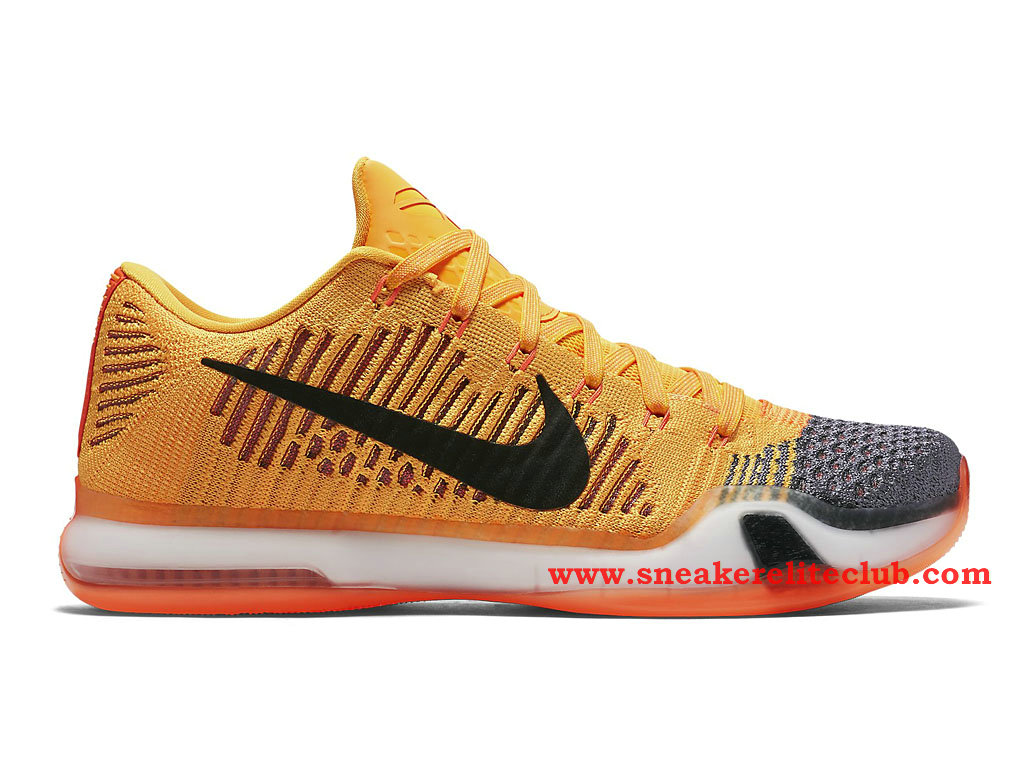 low cost b8787 fb9a1 Chaussure Basketball Homme Nike Kobe 10 Elite Low Chester Total  Orange Laser Orange-Tumbled ...