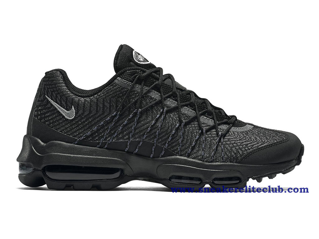 chaussure de basket ball nike air max 95 ultra jacquard gs pas cher pour femme noir 749771 001. Black Bedroom Furniture Sets. Home Design Ideas
