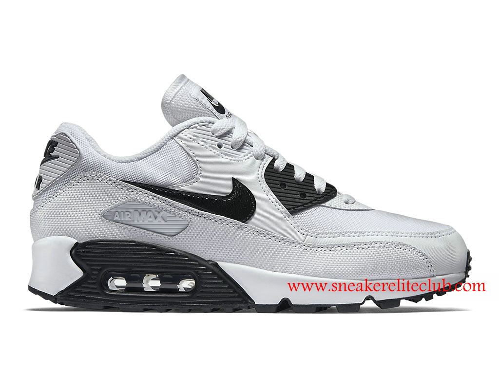 chaussure femme nike air max 90 essential pas cher blanc noir 616730 110 1601031595 chaussure. Black Bedroom Furniture Sets. Home Design Ideas