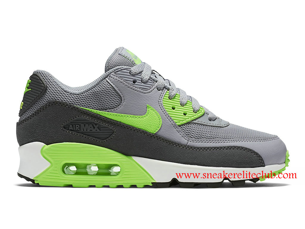 buy popular 2085c a7cb2 Nike Air Max 90 Essential Cheap Women´s Shoes GrayGreenBlack 616730022