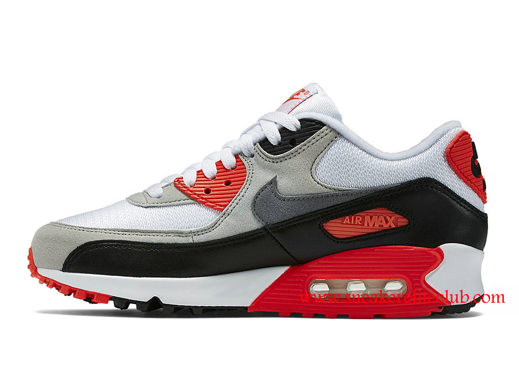 ... Nike Air Max 90 OG Cheap Women´s Shoes Black/White/Red/ ...