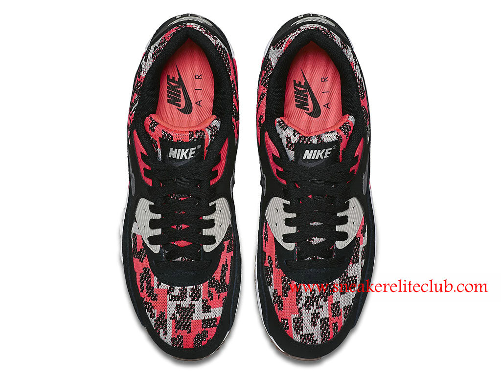 Nike Air Max 90 Cheap Women´s Shoes BlackRedGray 749674_800