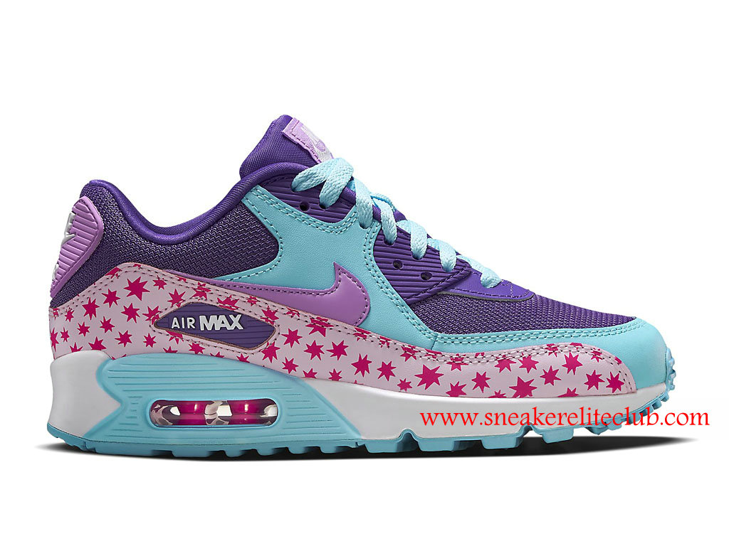 Chaussure Femme Nike Air Max 90 Pas Cher Prism Pink Blue 724875_600