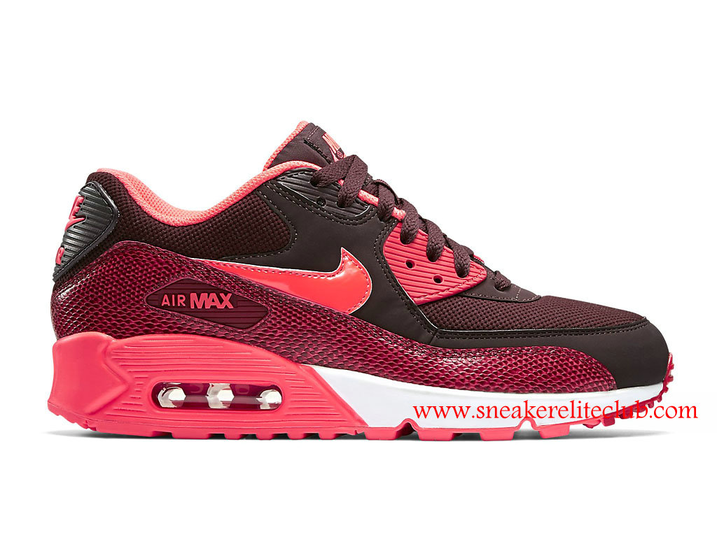 chaussure femme nike air max 90 pas cher rouge brun 325213 610 1601031566 chaussure nike. Black Bedroom Furniture Sets. Home Design Ideas