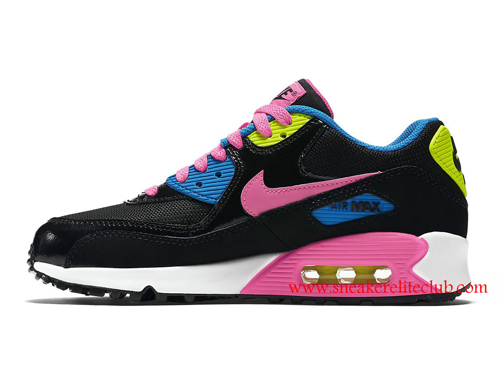chaussure femme nike air max 90 qs pas cher noir rose bleu vert 724855 004 1601031599. Black Bedroom Furniture Sets. Home Design Ideas