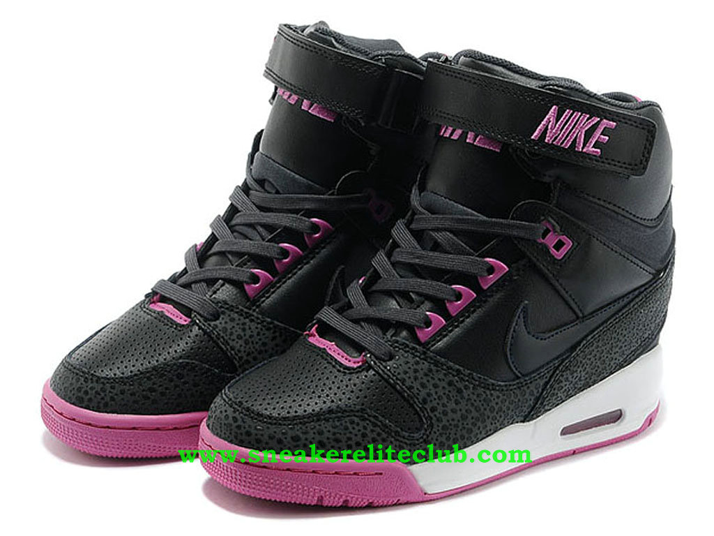 chaussure montante nike air revolution sky hi pas cher pour femme fille noir pourpre blanc. Black Bedroom Furniture Sets. Home Design Ideas