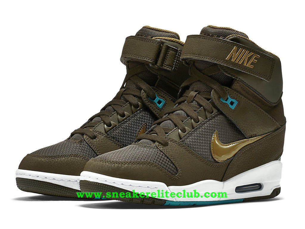 chaussure montante nike air revolution sky hi pas cher pour femme fille olive or 599410 301. Black Bedroom Furniture Sets. Home Design Ideas