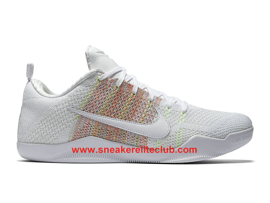 Chaussure Nike Kobe 11 Elite Low 4KB Pas Cher Pour Homme White Multi Color 824463_199
