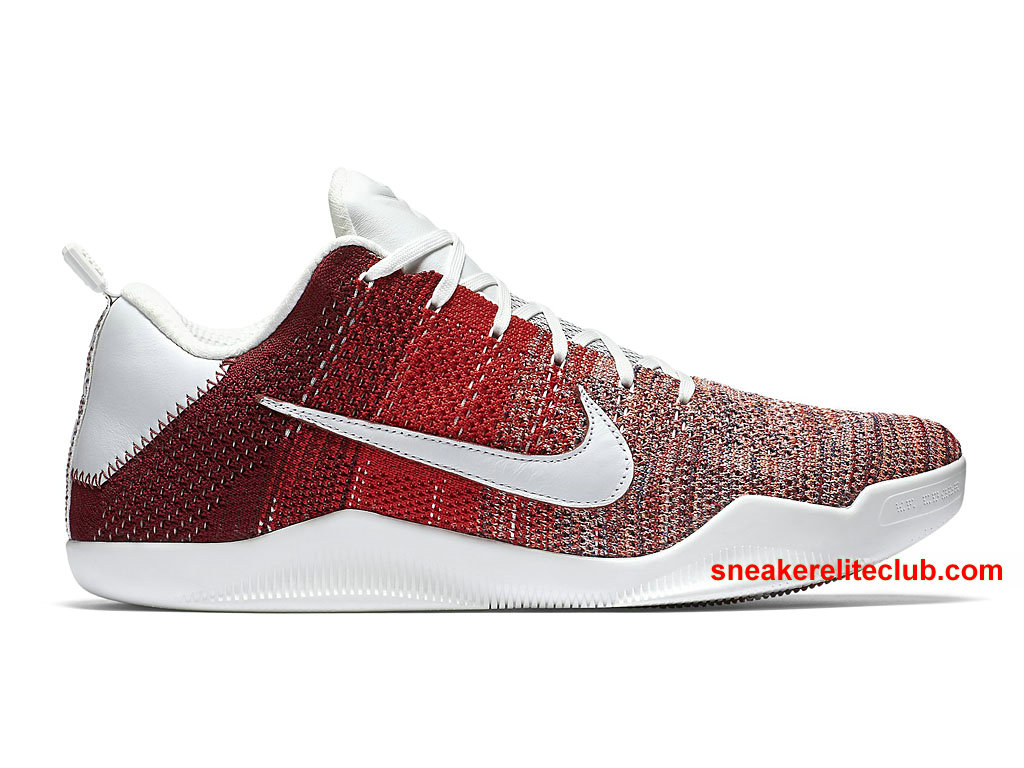 Chaussures Basket Nike Kobe 11 Elite Low Prix 4KB Pas Cher Pour Homme Red Horse 824463_606
