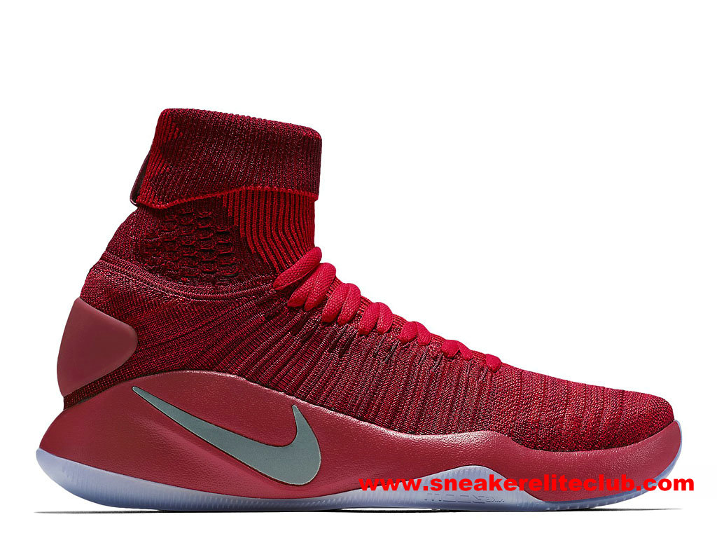 Chaussures BasketBall Homme Nike Hyperdunk 2016 Flyknit Prix Pas Cher Rouge 843390_606