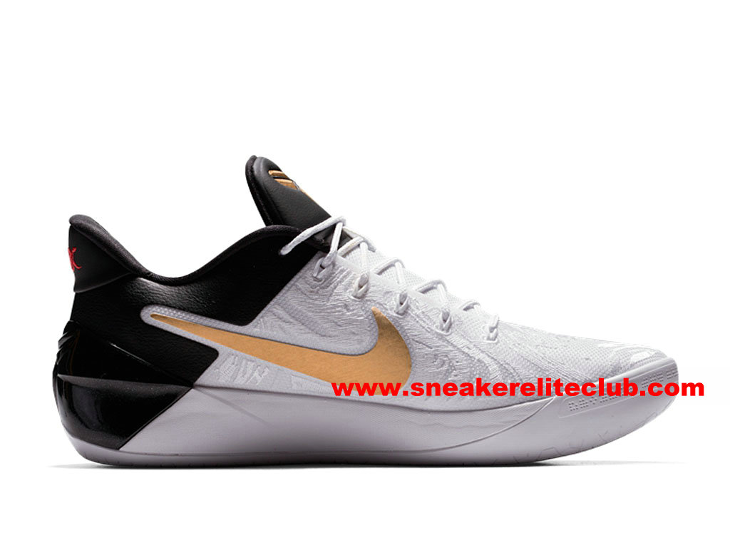 Chaussures BasketBall Homme Nike Kobe A.D. BHM Prix Pas Cher Noir/Blanc/Or