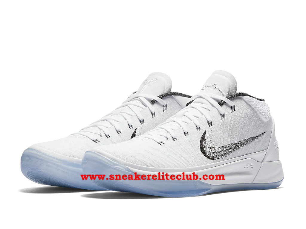 Chaussures BasketBall Homme Nike Kobe A.D. ICE Pas Cher Prix Blanc/Noir 922482_102