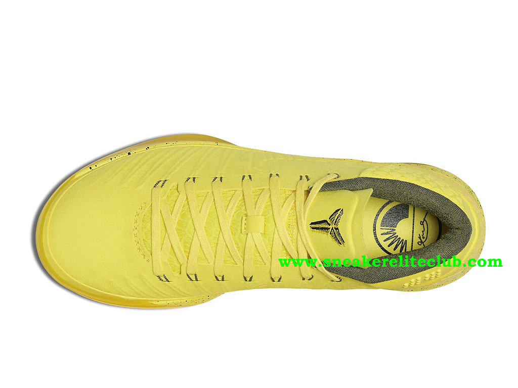 Chaussures BasketBall Homme Nike Kobe A.D. Mid Optimism Pas Cher Prix Jaune 922482_700