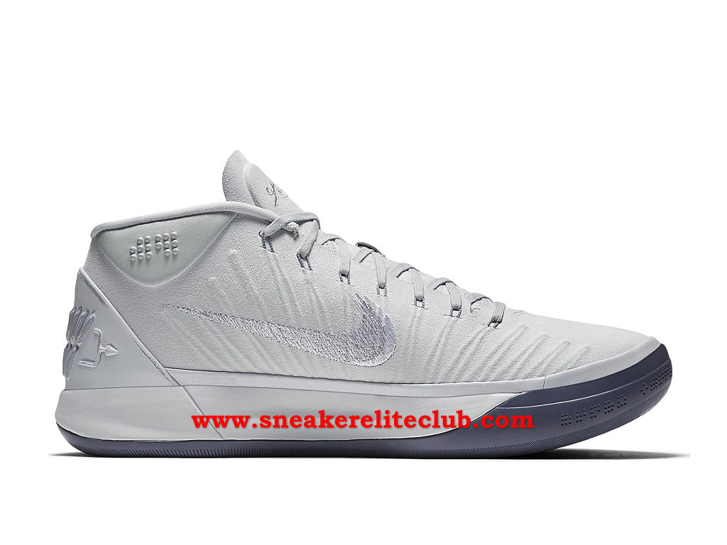 Chaussures BasketBall Homme Nike Kobe A.D. Pas Cher Prix Pure Platinum Blanc/Gris 922484_004