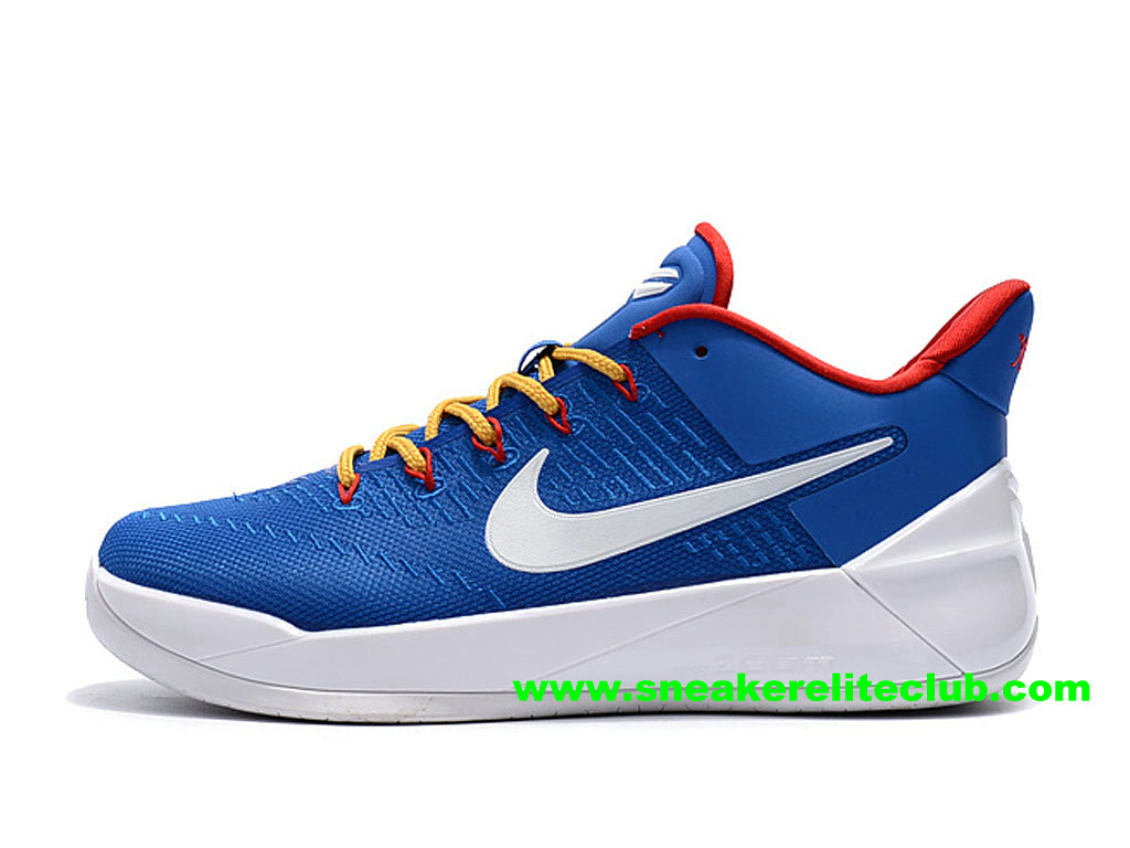 Chaussures BasketBall Homme Nike Kobe AD Prix Pas Cher Bleu/Blanc/Rouge 852427_A105