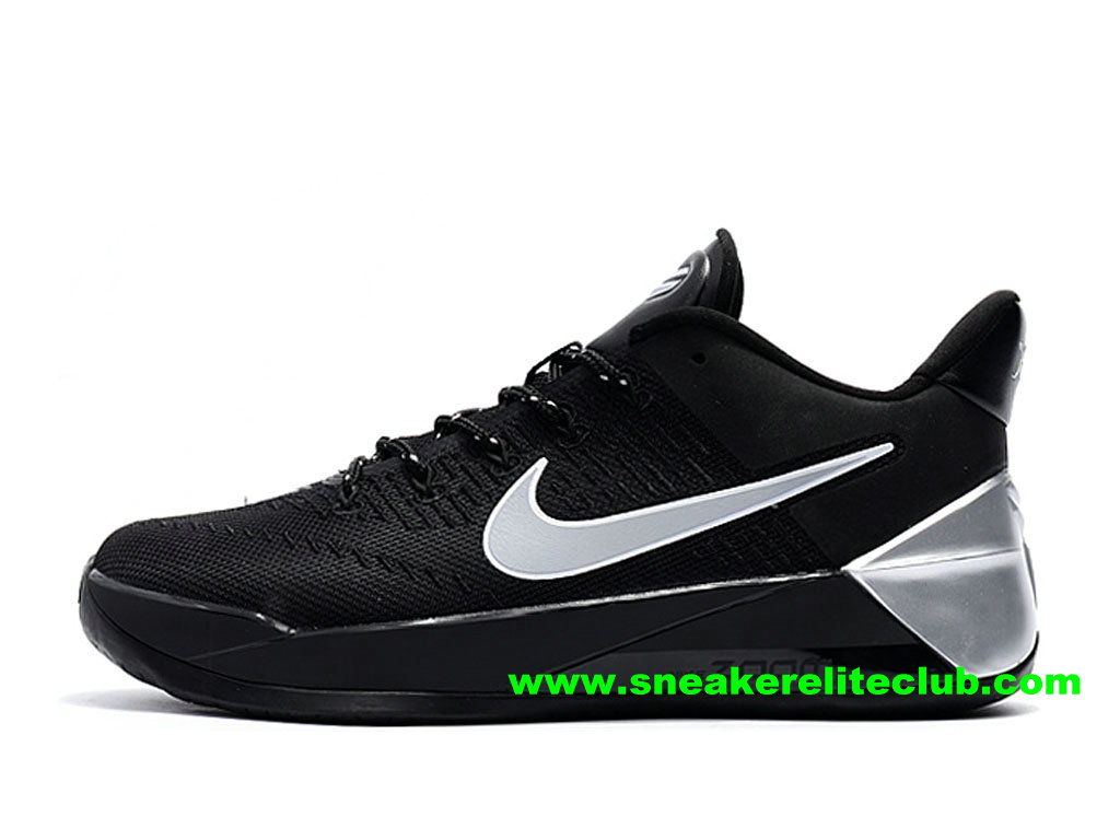 Chaussures BasketBall Homme Nike Kobe AD Prix Pas Cher Noir/Blanc/Argent 852427_A101
