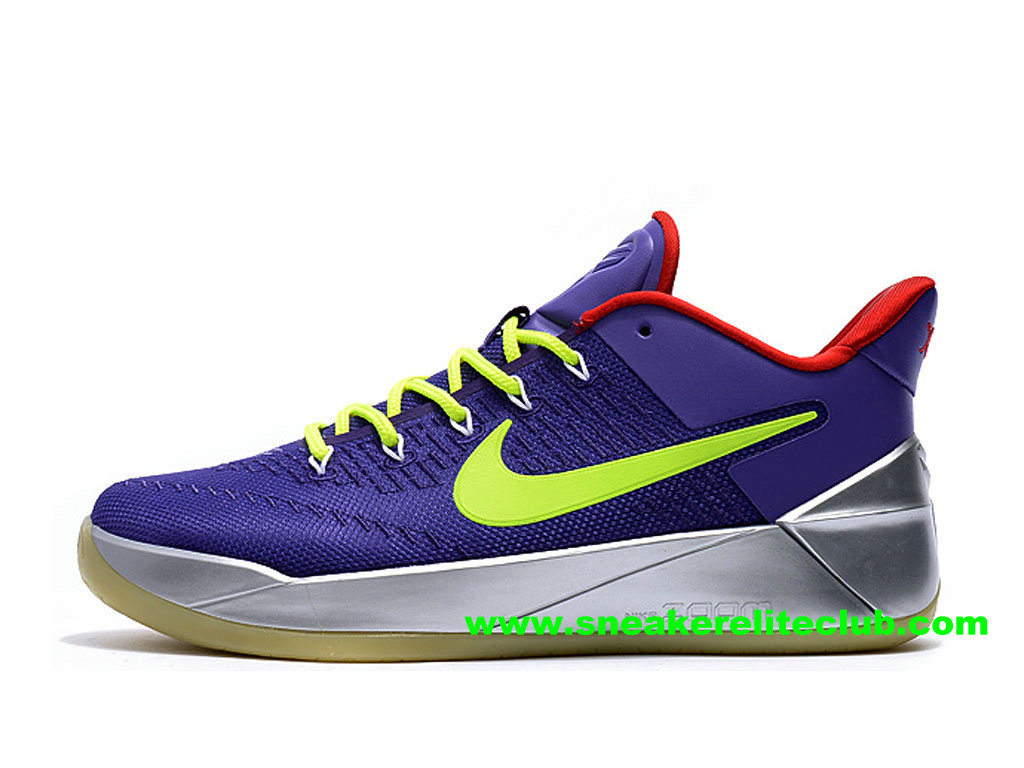 Chaussures BasketBall Homme Nike Kobe AD Prix Pas Cher Pourpre/Vert/Rouge/Argent 852427_A100