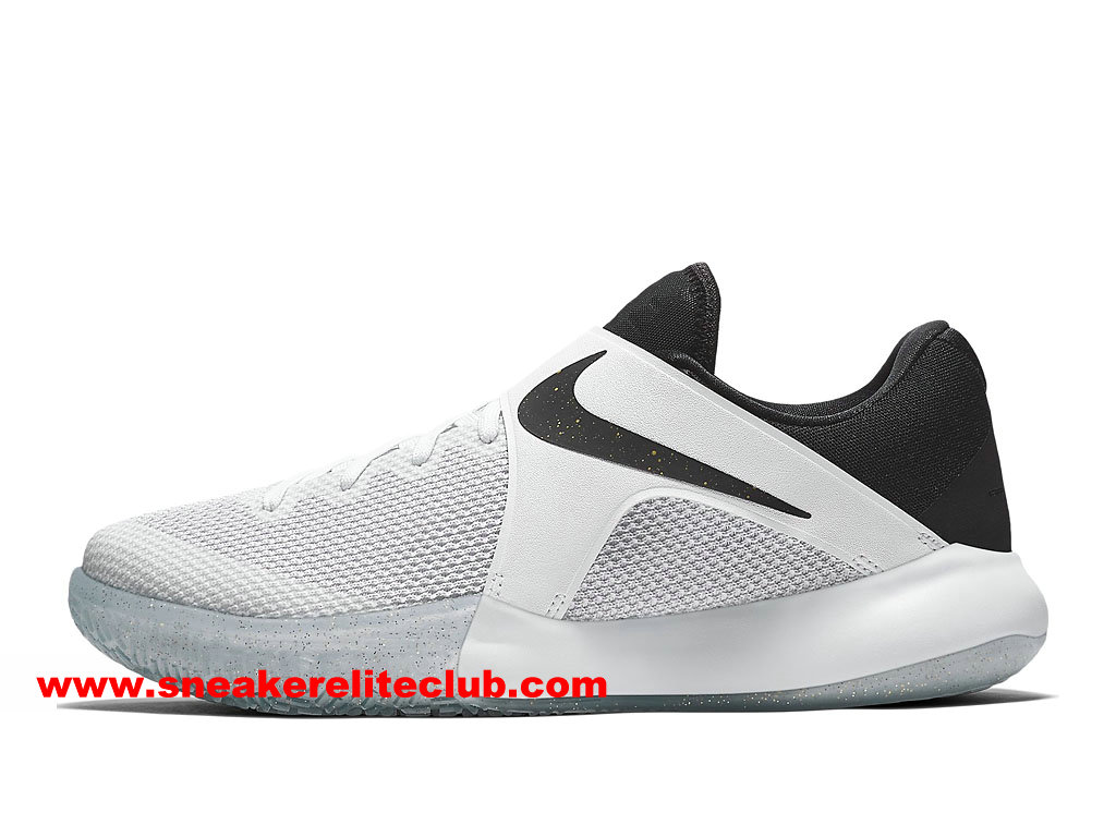 Chaussures BasketBall Homme Nike Zoom Live 2017 EP Prix Pas Cher Blanc/NOir 860633_107