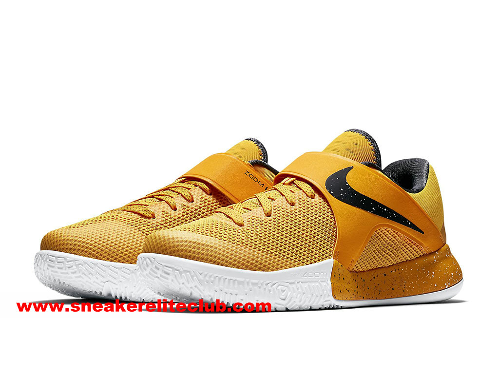 Chaussures BasketBall Homme Nike Zoom Live 2017 EP Prix Pas Cher Jaune/Noir 852420_999