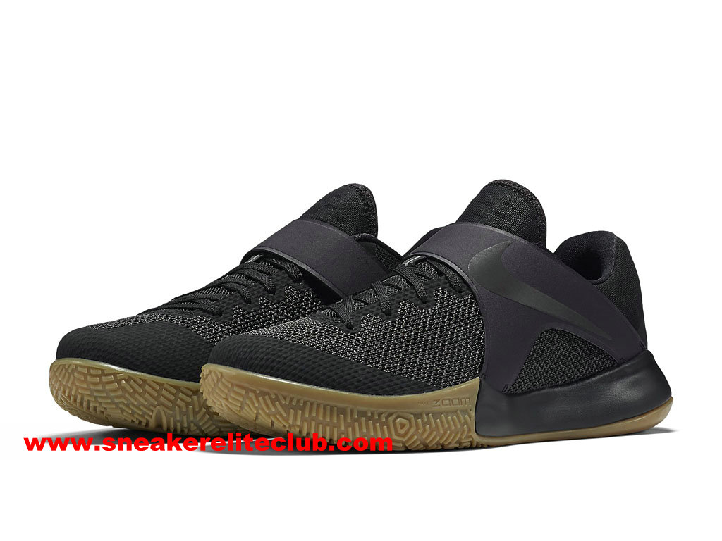 Chaussures BasketBall Homme Nike Zoom Live 2017 EP Prix Pas Cher Noir 852420_011
