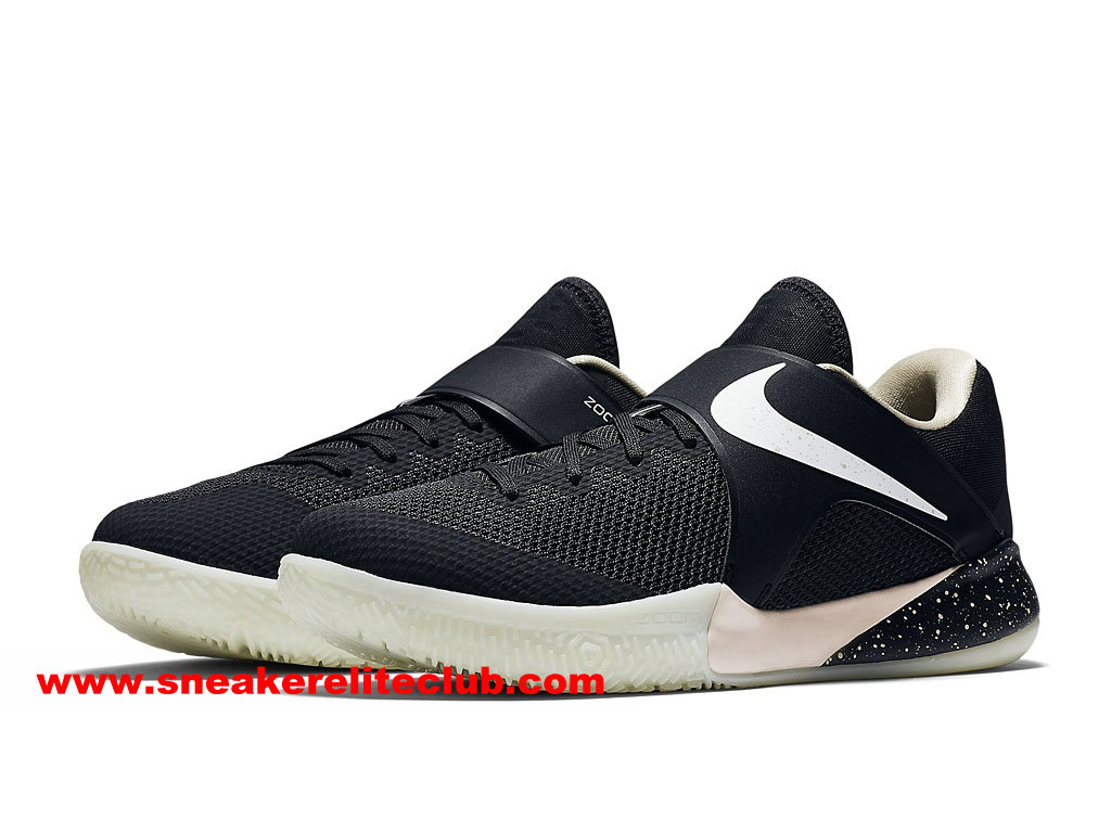 Chaussures BasketBall Homme Nike Zoom Live 2017 EP Prix Pas Cher Noir/Blanc 911090_011