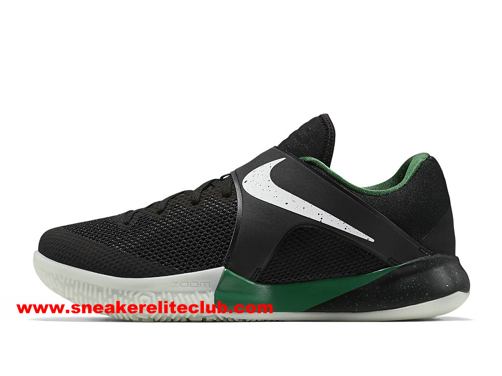 Chaussures BasketBall Homme Nike Zoom Live 2017 EP Prix Pas Cher Noir/Blanc/Vert 911090_013