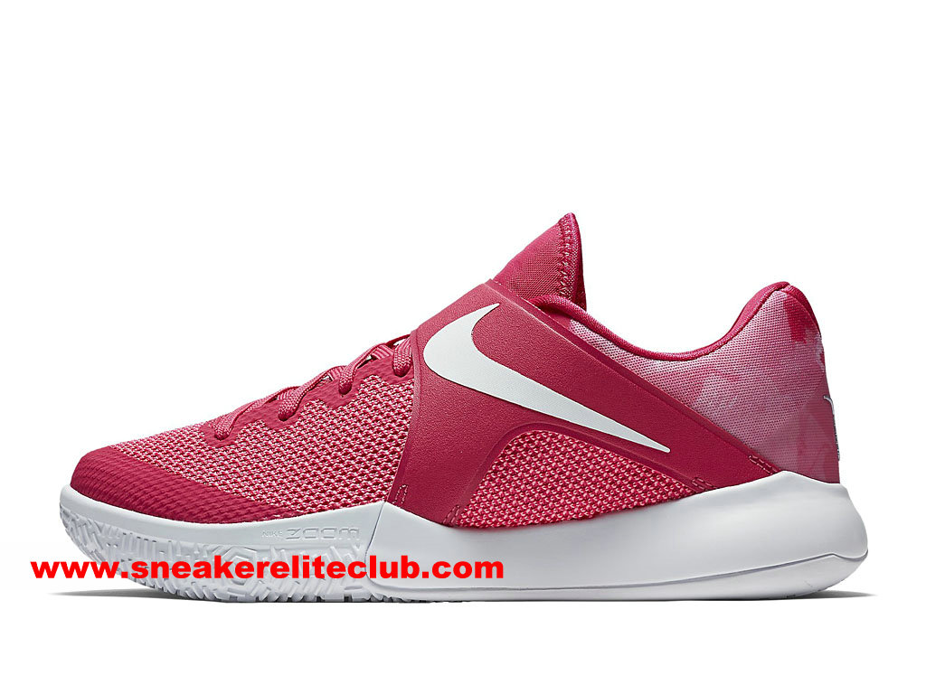 Chaussures BasketBall Homme Nike Zoom Live 2017 EP Prix Pas Cher Rose/Blanc 852420_617