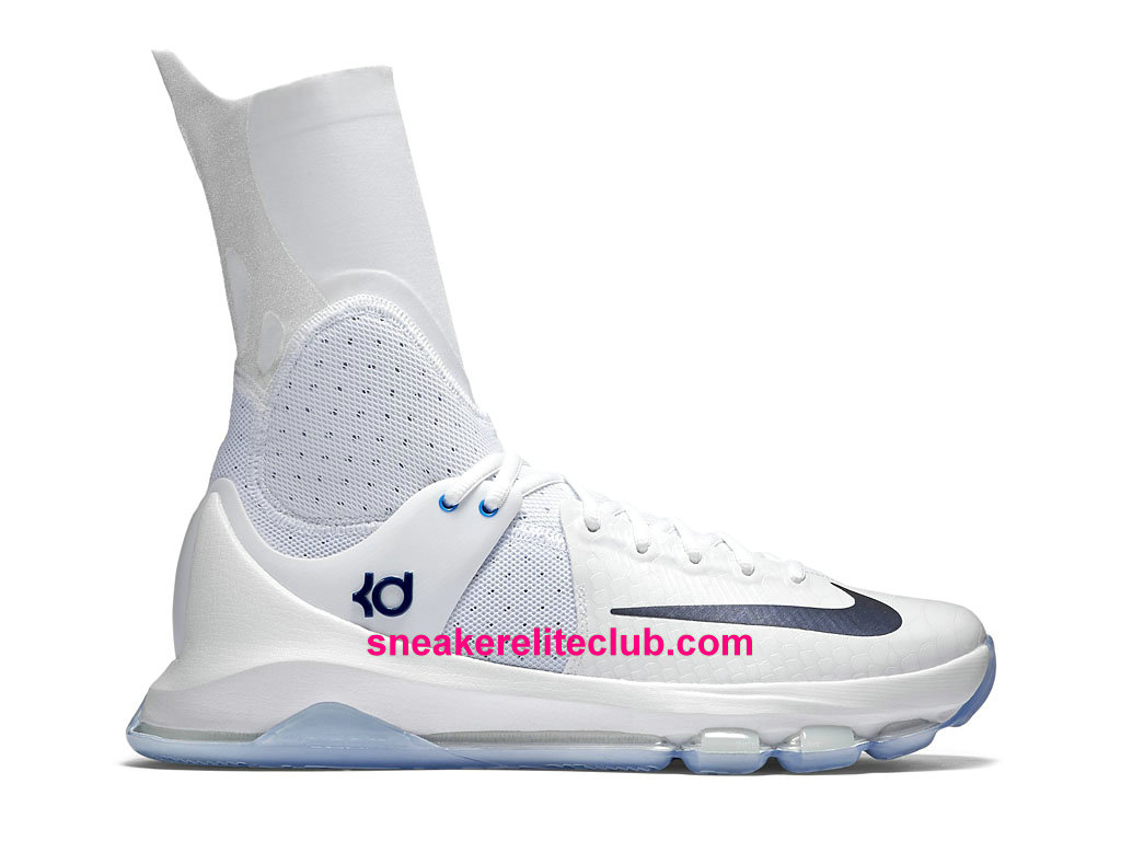 Chaussures BasketBall Nike KD 8 Elite Home Prix Pas Cher Pour Homme Blanc