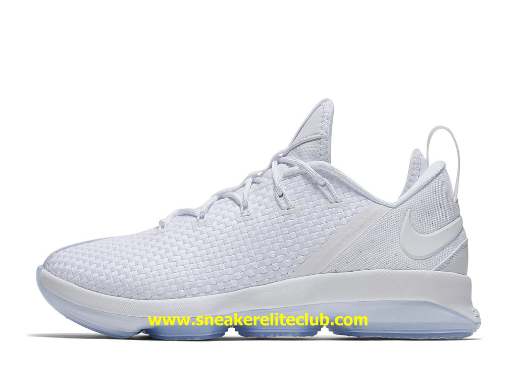 Chaussures De BasketBall Homme Nike LeBron 14 Low EP Pas Cher Prix Blanc 878635_101