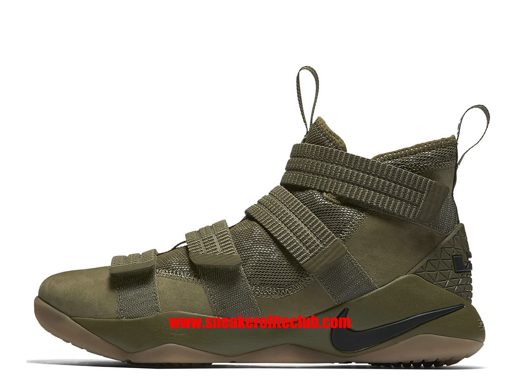 Nike LeBron Soldier 11 Price Cheap Men´s BasketBall Shoes Olive Green  897646_200