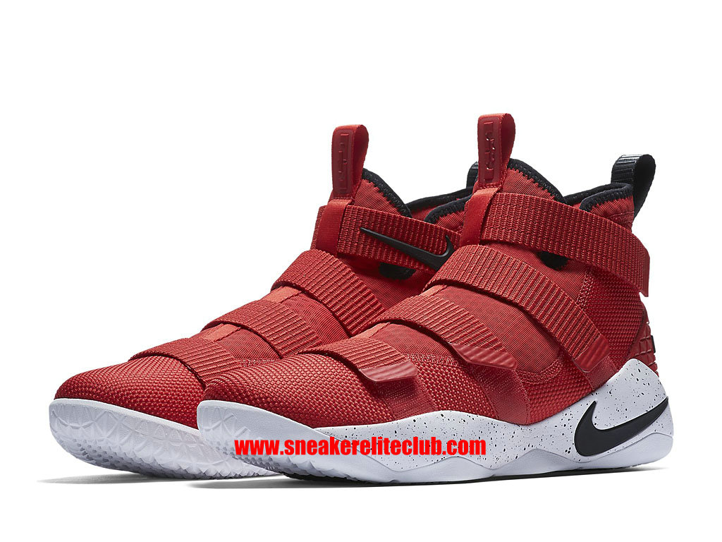 Chaussures De BasketBall Homme Nike Lebron Soldier 11 Prix Pas Cher University Red 897644_601