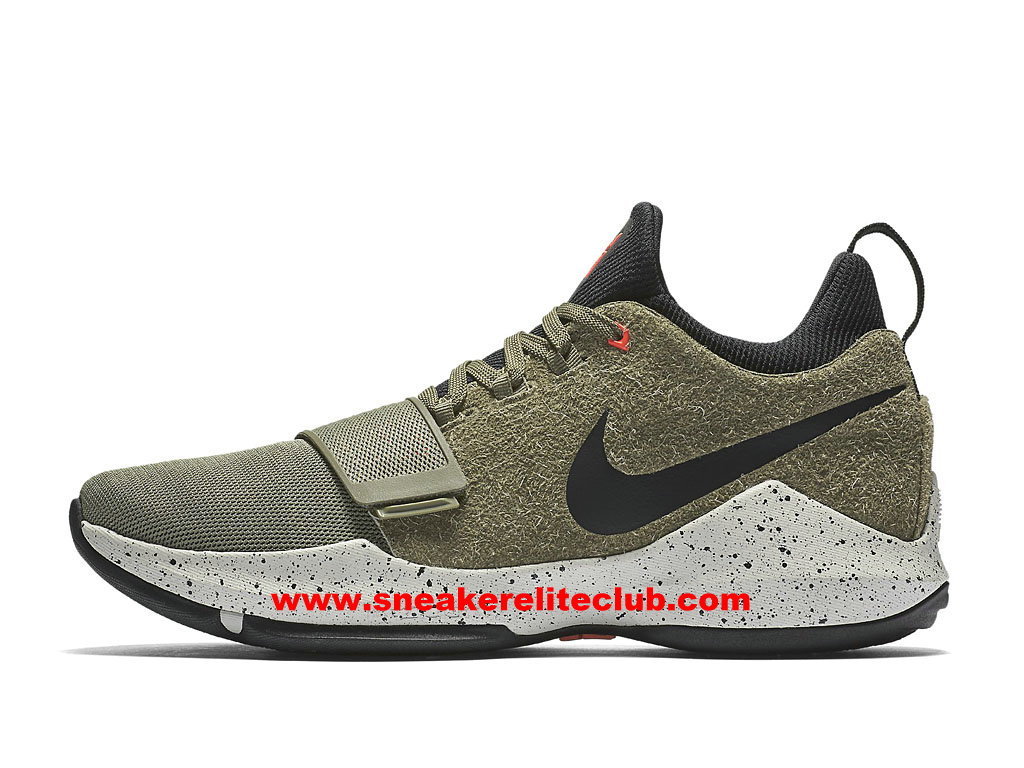Chaussures De BasketBall Homme Nike PG 1 Pas Cher Prix Olive Green Black 911085_200