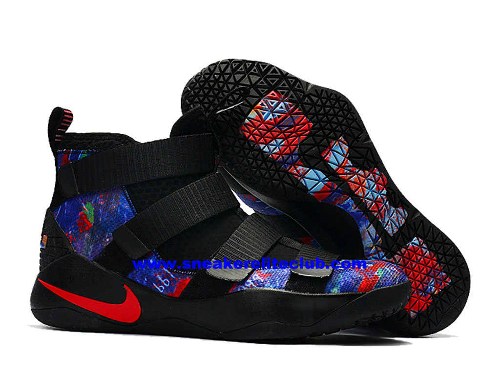 factory price 757ff 5d66f ... Men´s Basketball Shoes Nike Zoom LeBron Soldier 11 Price Cheap Official  Black Blue ...