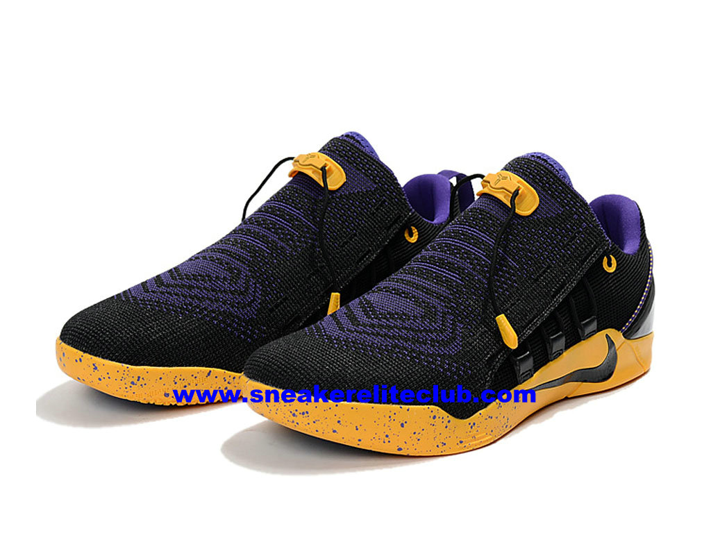 chaussures de basketball nike kobe a d nxt id prix homme pas cher noir jaune pourpre 882049. Black Bedroom Furniture Sets. Home Design Ideas