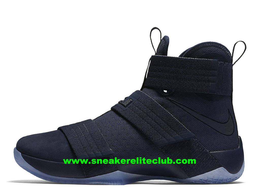 Chaussures De BasketBall Nike Zoom LeBron Soldier 10 Prix Homme Pas Cher Midnight Navy 844378_444