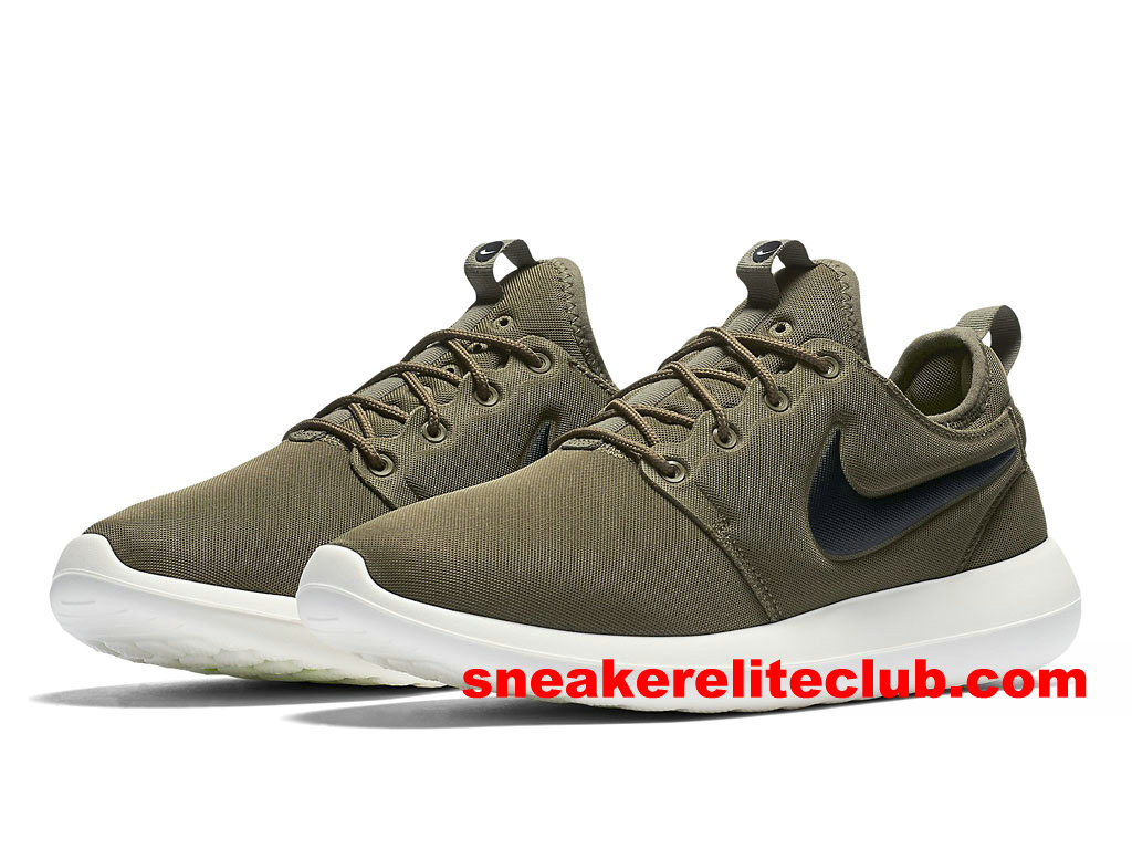 Chaussures De Course Homme Nike Roshe Two Prix Pas Cher Olive Vert