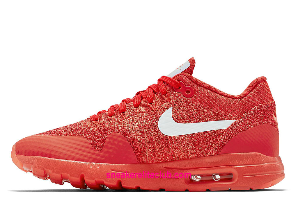 super popular fb966 2edfe ... Nike Air Max 1 Ultra Flyknit Price Women´s Running Shoes Cheap  RedWhite ...