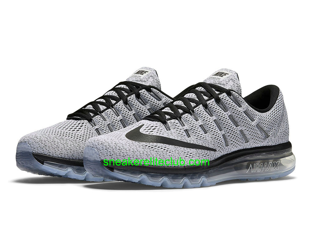 chaussures de course nike air max 2016 prix pas cher pour homme gris noir 806771 101 806771 101. Black Bedroom Furniture Sets. Home Design Ideas