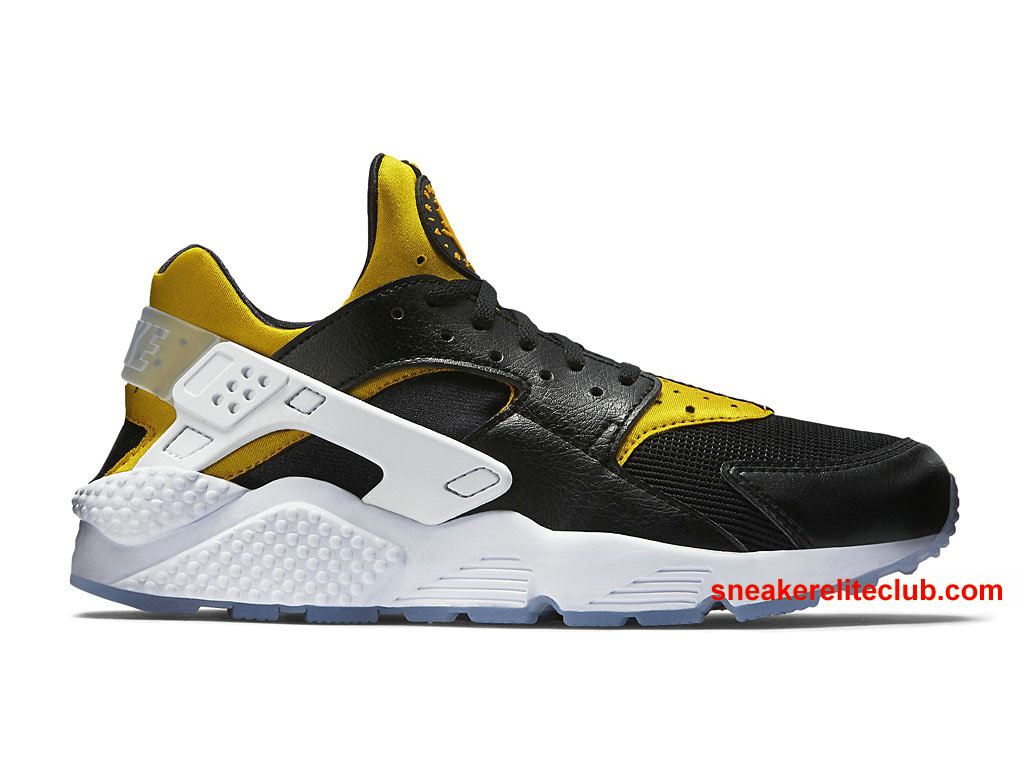 chaussures de running nike air huarache berlin prix pas cher pour homme noir jaune blanc 704830. Black Bedroom Furniture Sets. Home Design Ideas