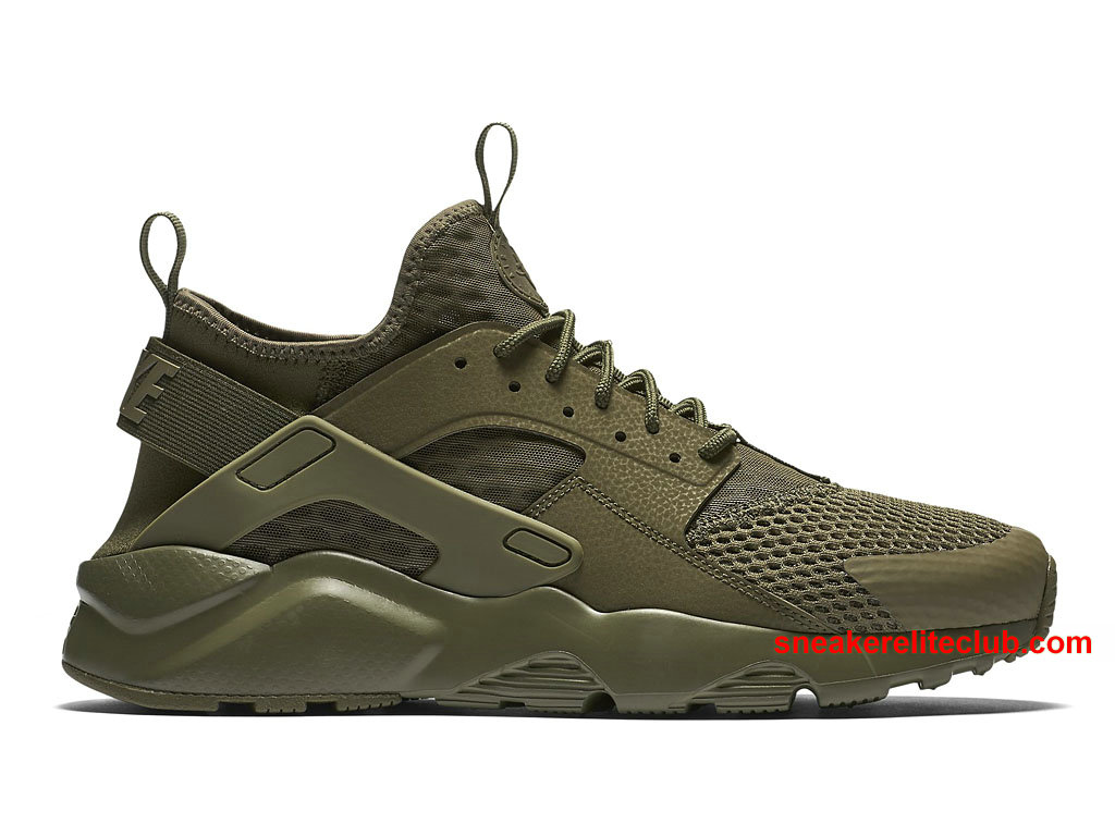 chaussures de running nike air huarache run ultra breathe prix pas cher pour homme olive vert. Black Bedroom Furniture Sets. Home Design Ideas