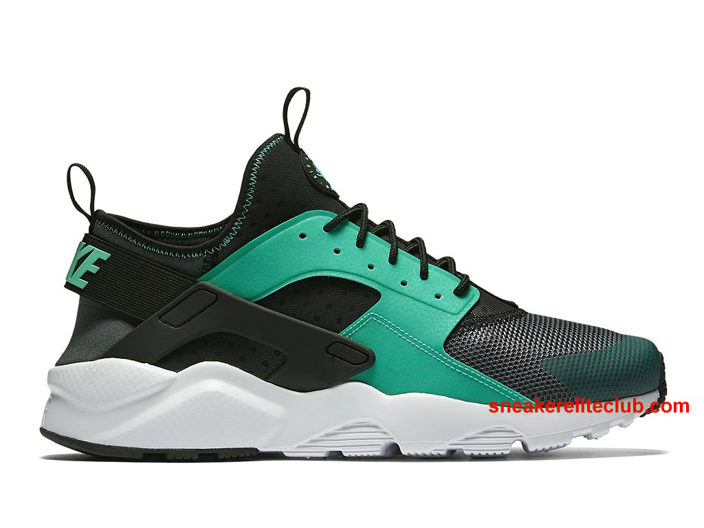 chaussures de running nike air huarache ultra prix pas cher pour homme vert noir 819685 003. Black Bedroom Furniture Sets. Home Design Ideas