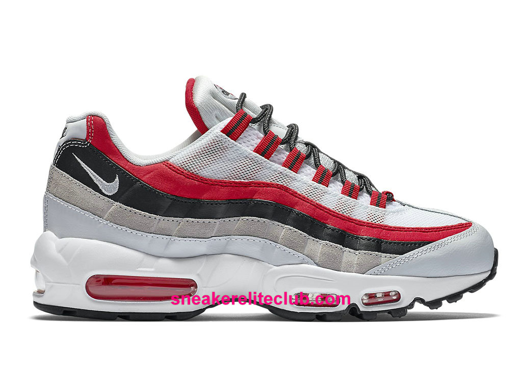 save off 1b5f2 e1a3b Chaussures De Running Nike Air Max 95 Essential Prix Homme Pas Cher Rouge Blanc  Brun 749766 601 ...