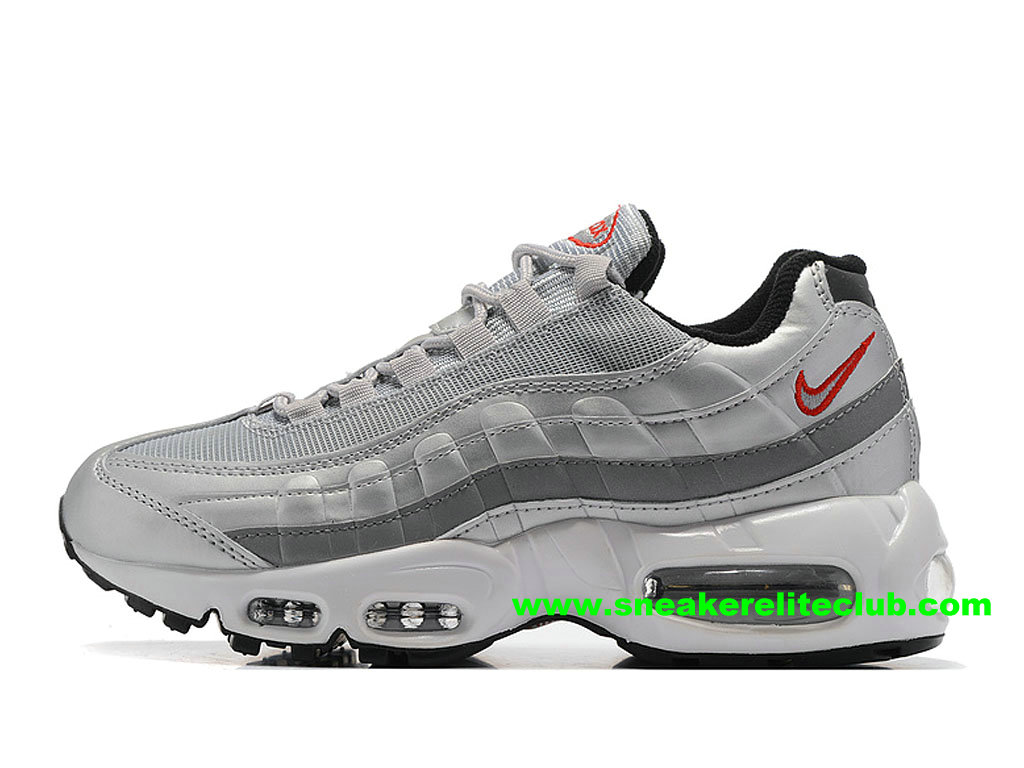 chaussures de running nike air max 95 id femme prix pas cher gris argent rouge noir 307960 id009. Black Bedroom Furniture Sets. Home Design Ideas