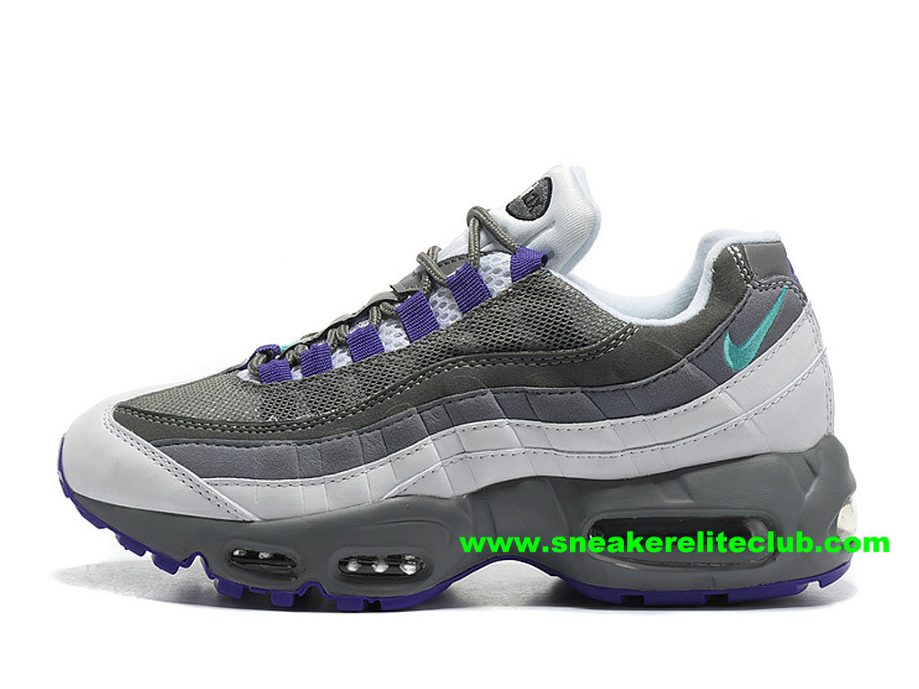 Chaussures De Running Nike Air Max 95 ID Femme Prix Pas Cher Gris/Pourpre 307960_ID002