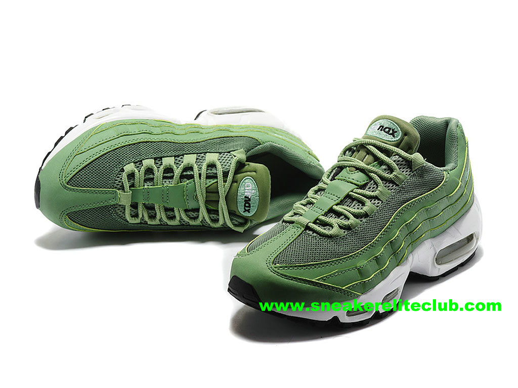 the latest 468f4 85e8c ... Chaussures De Running Nike Air Max 95 ID Femme Prix Pas Cher Vert  307960 ID003 ...