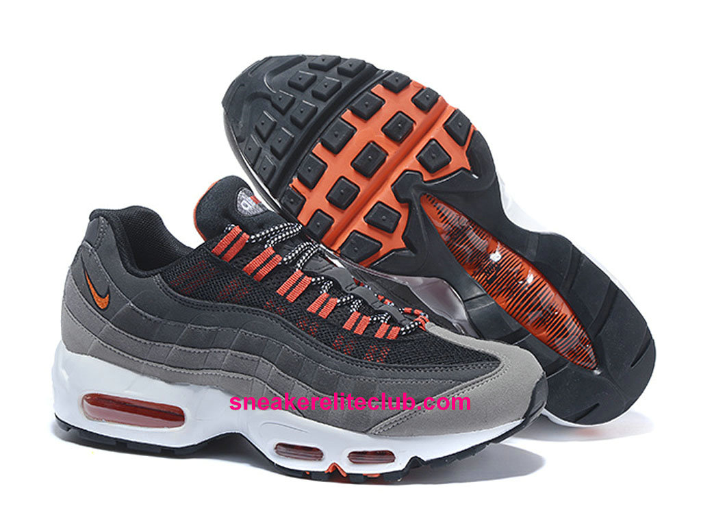 Chaussures De Running Nike Air Max 95 Prix Homme Pas Cher Gris Rose Orange 749766-A002