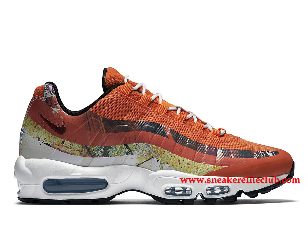 Chaussures De Running Nike Air Max 95 Prix Homme Pas Cher Orange/Blanc 872640_600