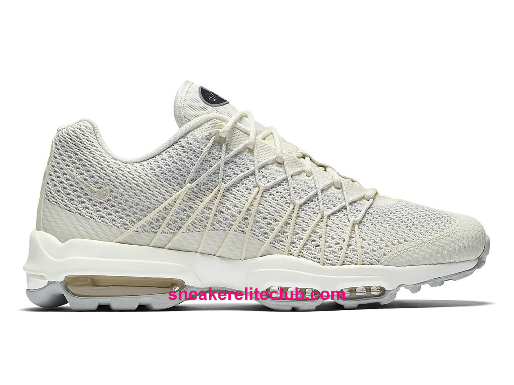 Chaussures De Running Nike Air Max 95 Ultra Jacquard Prix Homme Pas Cher Beige Blanc 749771_102