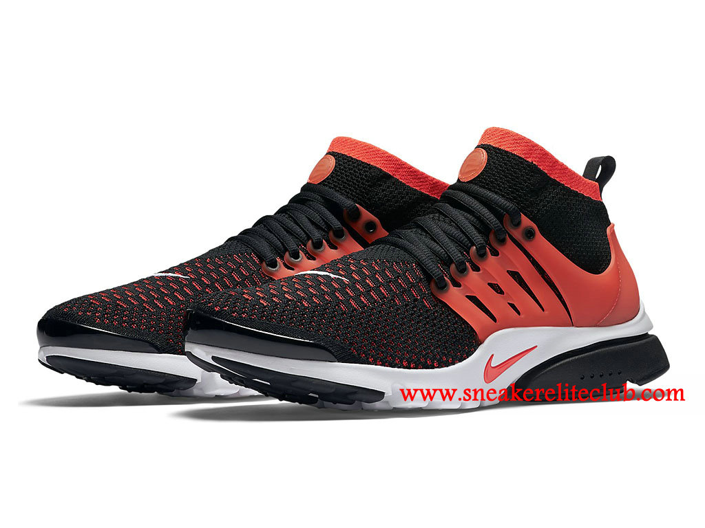 chaussures de running nike air presto flyknit ultra prix homme pas cher rouge noir 835570 006. Black Bedroom Furniture Sets. Home Design Ideas