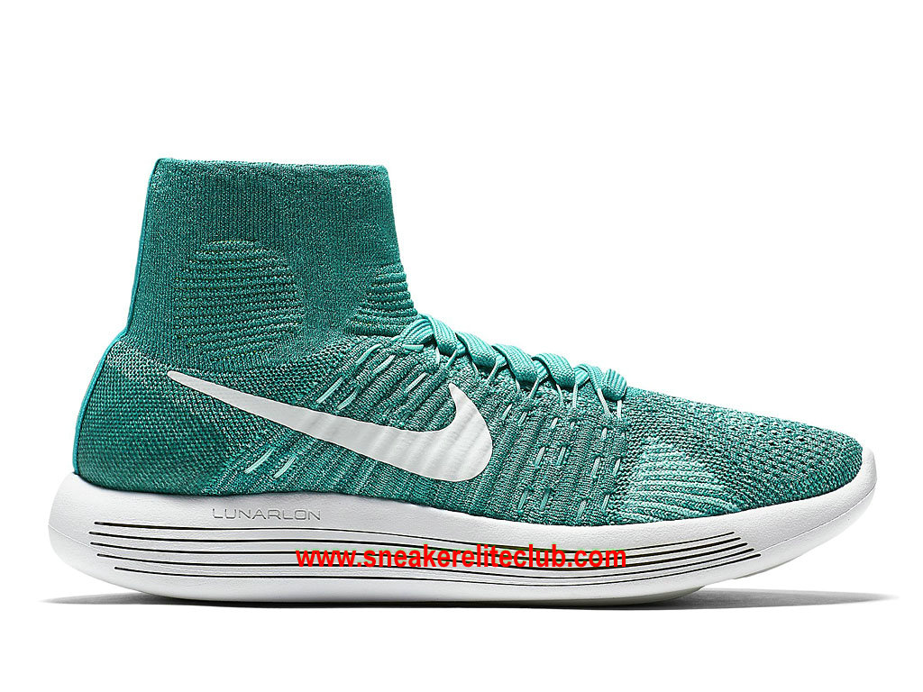Chaussures De Running Nike LunarEpic Flyknit Prix Pas Cher Pour Femme Clear Jade/Hyper Turquoise/Rio Teal/White 818677_301